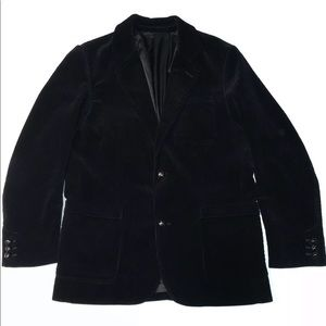 EddieBauer Velvet Velour Button Down Blazer Jacket